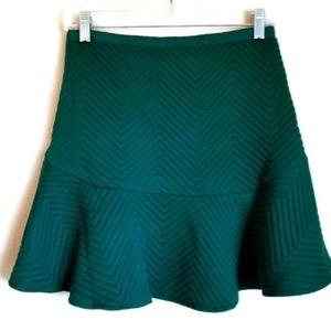 NEW revolve line & dot green skater quilted skirt